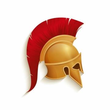 逼真的金色的古罗马战士头盔帽子侧视图png图片免抠矢量素材