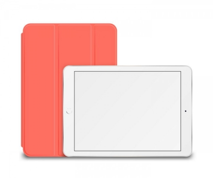 苹果iPad平板电脑和红色保护套图片免抠矢量素材