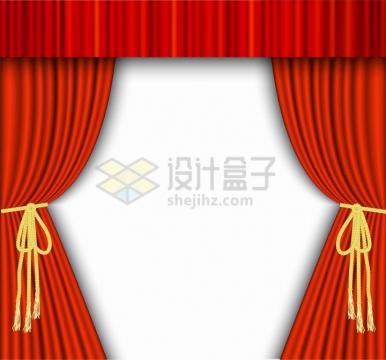 剧院的红色帷幕png图片免抠矢量素材