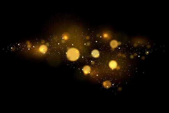 金色光斑宇宙星空星光效果图片免抠矢量图素材