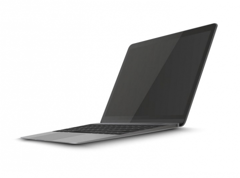 深灰色的超薄笔记本电脑超极本图片免抠矢量素材