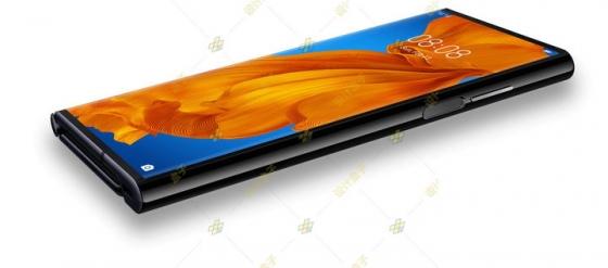 折叠状态的华为Mate Xs折叠屏手机png图片免抠素材
