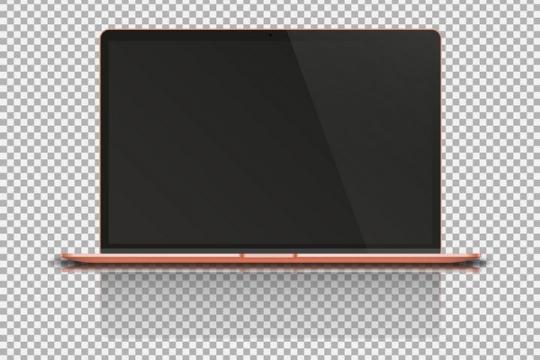 红色的超薄笔记本电脑超极本正面图图片免抠矢量素材