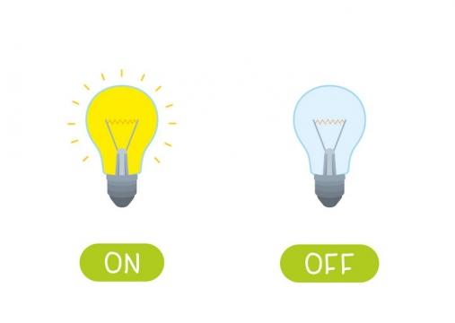 点亮的灯泡和熄灭的灯泡图片免抠矢量图