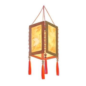 逼真的传统立方体挂灯灯笼图片免抠png素材