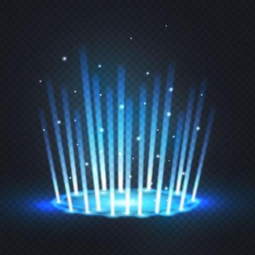 地面上的蓝色发光传送门效果图片免抠矢量图素材