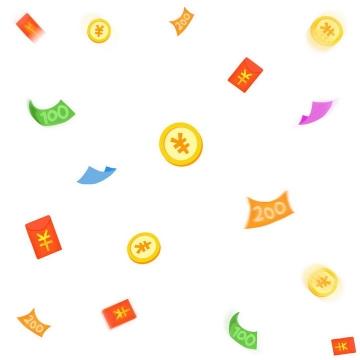 电商金融类金币红包装饰图片免抠素材