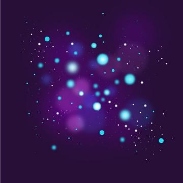 绚丽的光斑光点效果图片免抠矢量图素材