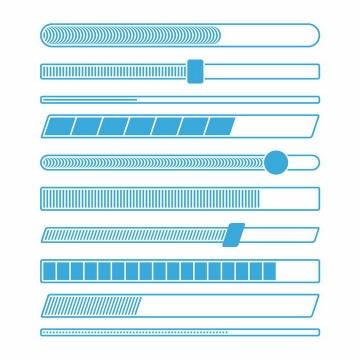 各种蓝色线条风格加载进度条loading设计png图片免抠eps矢量素材