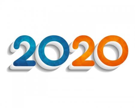 糖果色立体风格2020字体图片免抠矢量素材