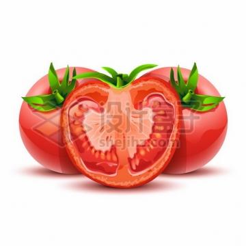 切开的西红柿番茄横切面786824png图片素材