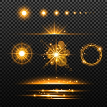 各种太阳光芒星光光线效果图片免抠矢量图素材