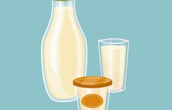 手绘扁平化风格玻璃杯中的饮料图片免抠矢量素材