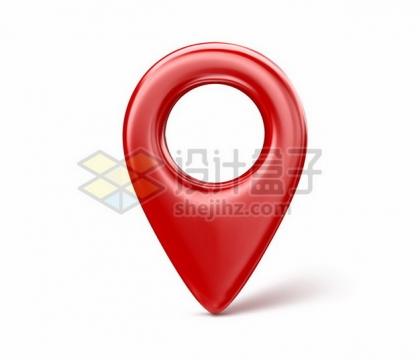 3D立体红色定位标志图标376747png矢量图片素材