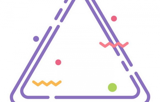 MBE风格紫色圆润三角形边框AI矢量图片免扣素材