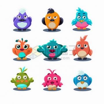9款可爱卡通小鸟游戏角色png图片免抠矢量素材