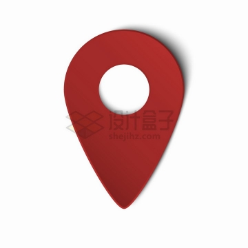 立体风格的红色定位标志图标png图片素材