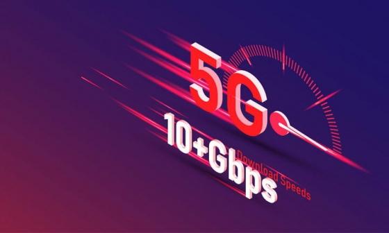创意立体风格5G信号速度表图片免抠素材