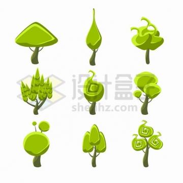 9款卡通绿树大树5747892png图片素材