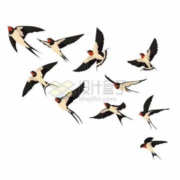 春天来了小燕子飞回来了png图片免抠矢量素材