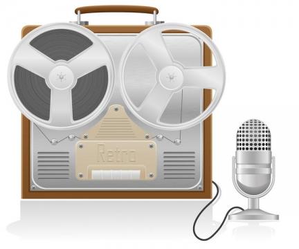 银色的录音设备话筒免抠矢量图片素材