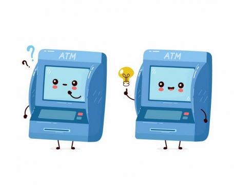 卡通银行ATM机的表情png图片免抠矢量素材