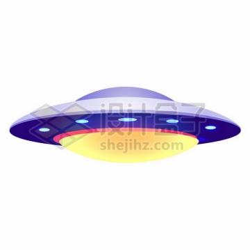 紫色卡通飞碟UFO不明飞行物png图片素材205214