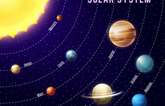 运行在各自轨道上的太阳系八大行星天文科普配图图片免抠素材