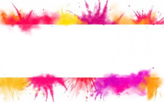 彩色喷粉效果文本框标题框png图片免抠矢量素材