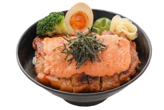 日式烧鸡饭日式料理png图片素材