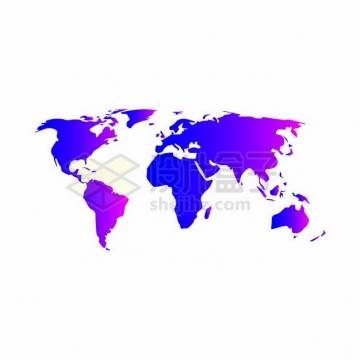紫红色的世界地图224623png图片素材