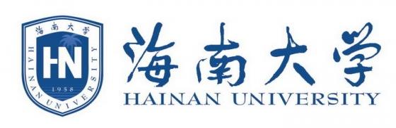 海南大学校徽LOGO图案图片免抠素材
