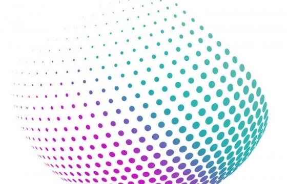 抽象风格紫色绿色圆点组成的圆球图案图片免扣素材