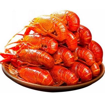 一盘摆放整齐的美味麻辣小龙虾美食图片免抠素材