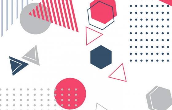 孟菲斯风格简洁斑点多边形图案装饰图片免抠素材