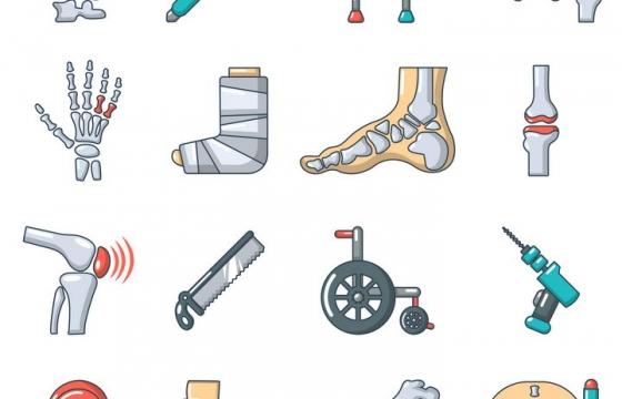 16款骨科医疗图标图片免抠素材