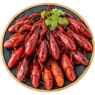 一大盘好看好吃的美味麻辣小龙虾美食图片免抠素材