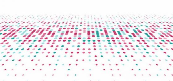红色绿色圆点组成的点阵装饰背景图png图片免抠矢量素材