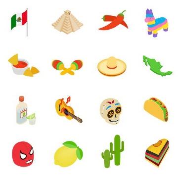16款2.5D效果墨西哥旅游图片免扣素材