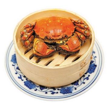 一笼清蒸大闸蟹美味螃蟹图片免抠素材