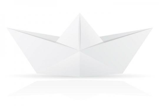 用白纸折叠的小船折纸玩具童年回忆系列免抠矢量图片素材