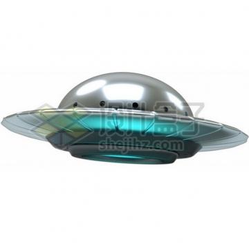 3D立体卡通飞碟UFO不明飞行物png图片素材134726