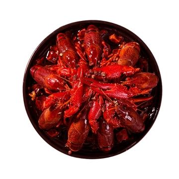 俯视视角的麻辣小龙虾美味河鲜美食图片免抠素材
