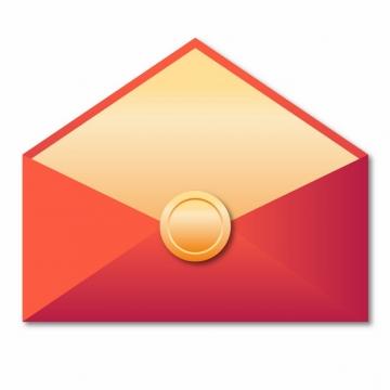 打开的空白微信红包封面556355AI矢量图片免抠素材