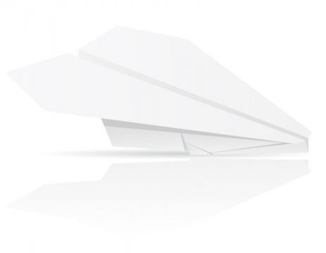 用白纸折叠的飞机纸飞机折纸玩具童年回忆系列免抠矢量图片素材