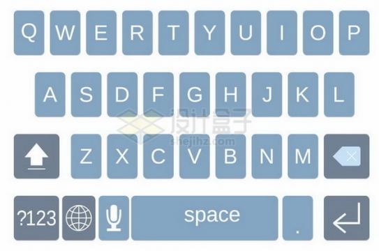 拼音26键手机输入法键盘样式png图片免抠矢量素材