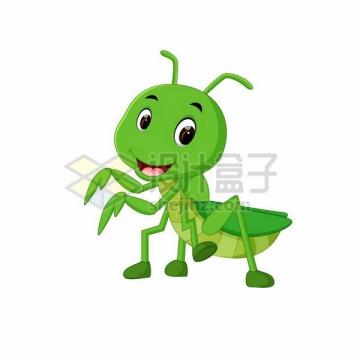 可爱的卡通螳螂宝宝png图片免抠矢量素材