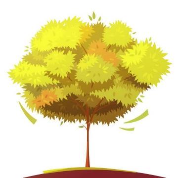 手绘风格一棵长满树叶的大树图片免扣素材