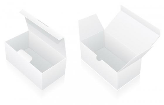 白色空白盒子包装免抠矢量图片素材