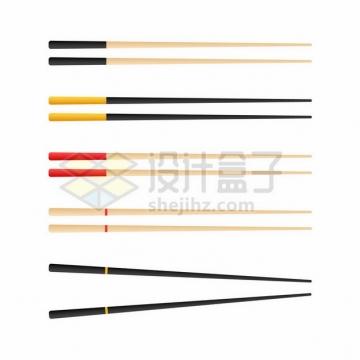 5款筷子扁平化风格389959png图片素材